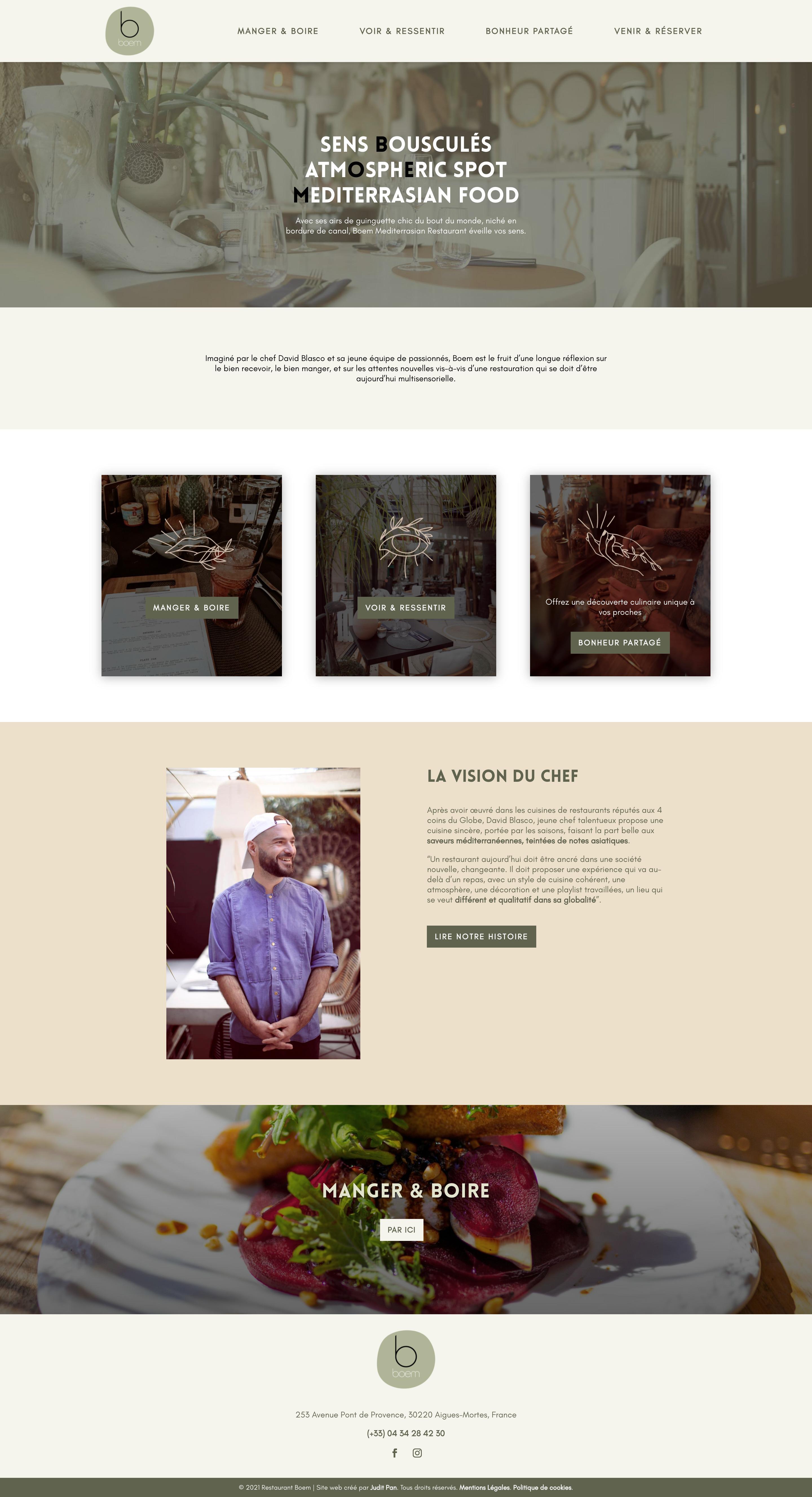 maqueta de la web Restaurant Boem